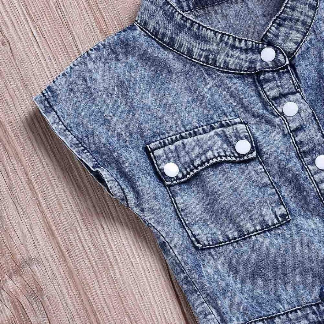 for 0-5 Years Baby Girls,Fashion Children Kid Girls Bowknot Jeans Denim Romper Bodysuit Jumpsuit Casaul Outfits Set Tracksuit Autumn Clothes
