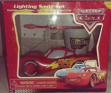 Disney Pixar The World Of Cars Lighting Smile Set (Toothbrush, Toothbrush  Holder And Rinse
