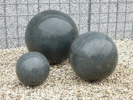 Boule décorative boule Granit Noir Poli 40 cm Granit Jardin ...