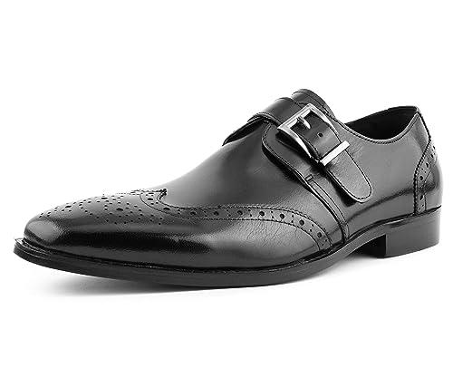 e84006311af53 Asher Green Mens Genuine Leather Burnished Wingtip, Lace up Oxford Dress  Shoe