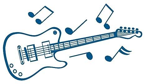 Vinilo decorativo hogar -Guitarra, Brillo, Orientación normal ,110 x 65 cm.
