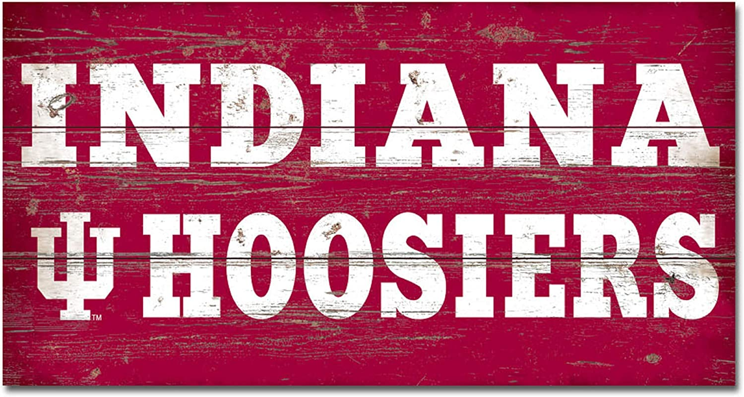 Wood One Size NCAA Legacy Indiana Hoosiers Wood Plank Sign 11x20