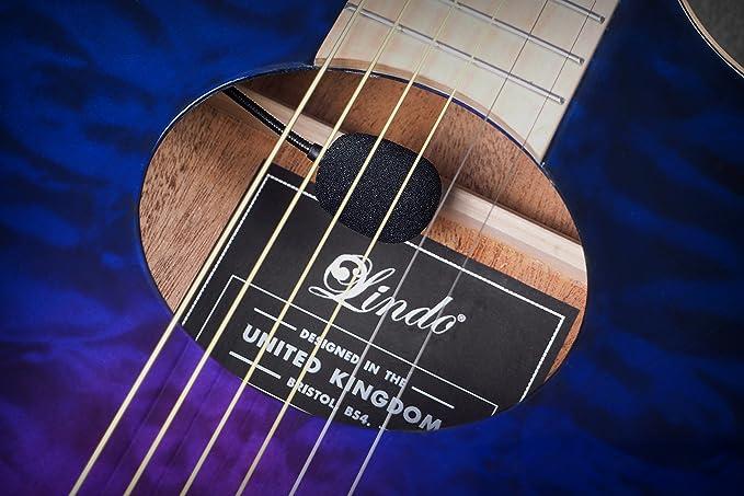 Lindo Karma Slim Body - Guitarra electroacústica (con preamplificador de mezcla: Amazon.es: Instrumentos musicales