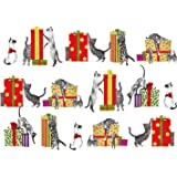 Entertaining with Caspari Gift Wrap Cats Christmas Cards, Box of 16