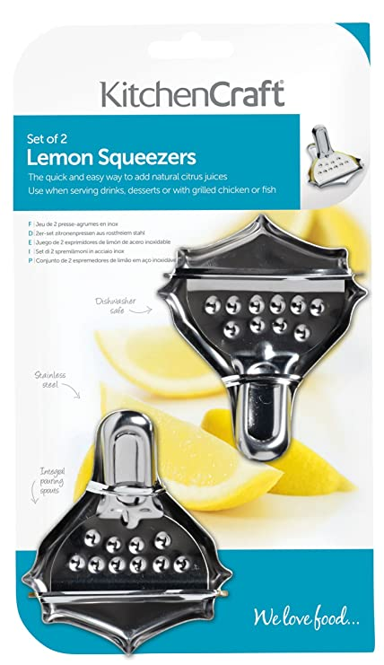 Amazon.com: Kitchencraft Stainless Steel Lemon Wedge Squeezers (set Of 2): Hand Juicers: Kitchen & Dining