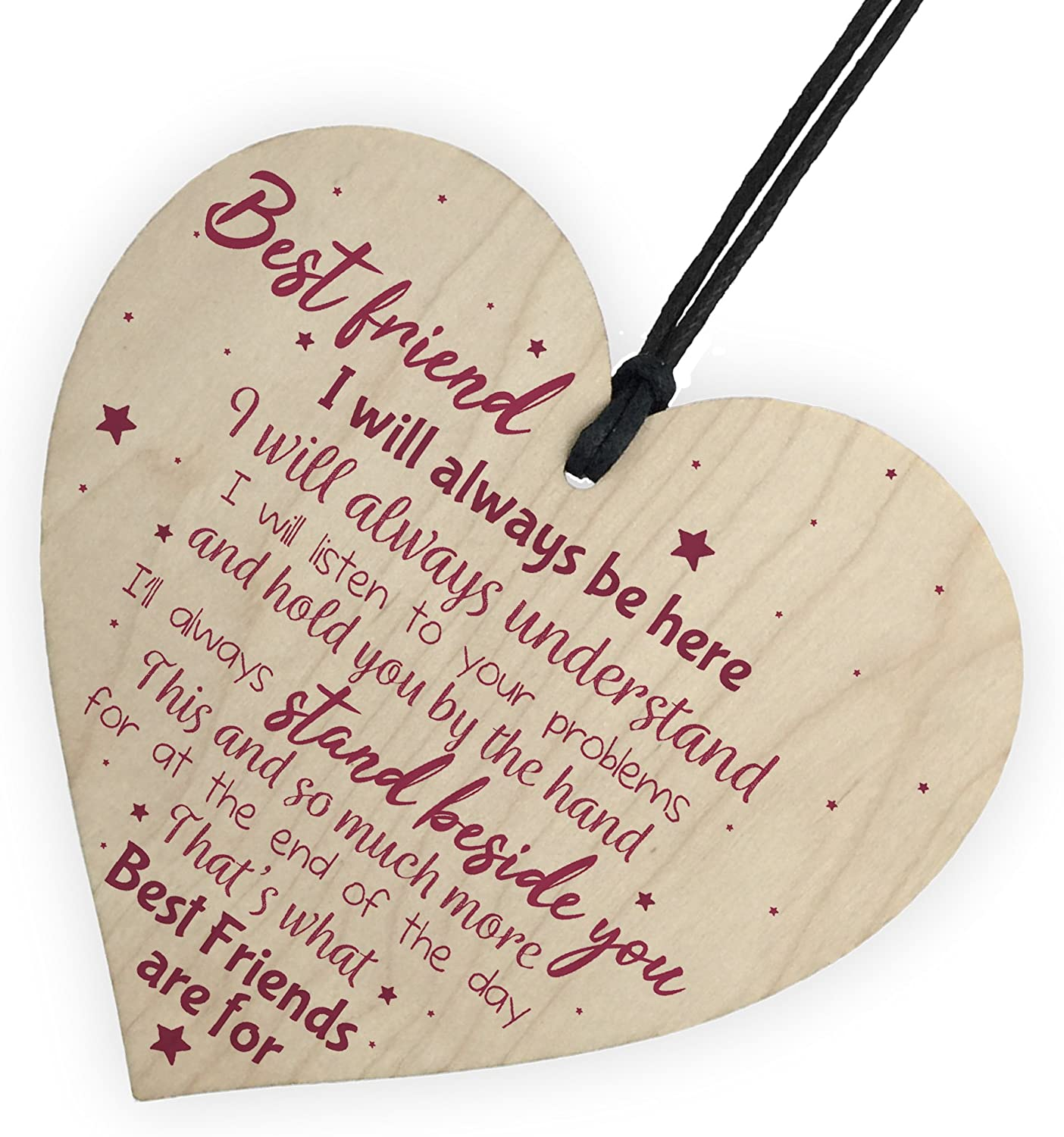 Sisters Wooden Heart Plaque Birthday Christmas Gift Keepsake Friendship Gifts