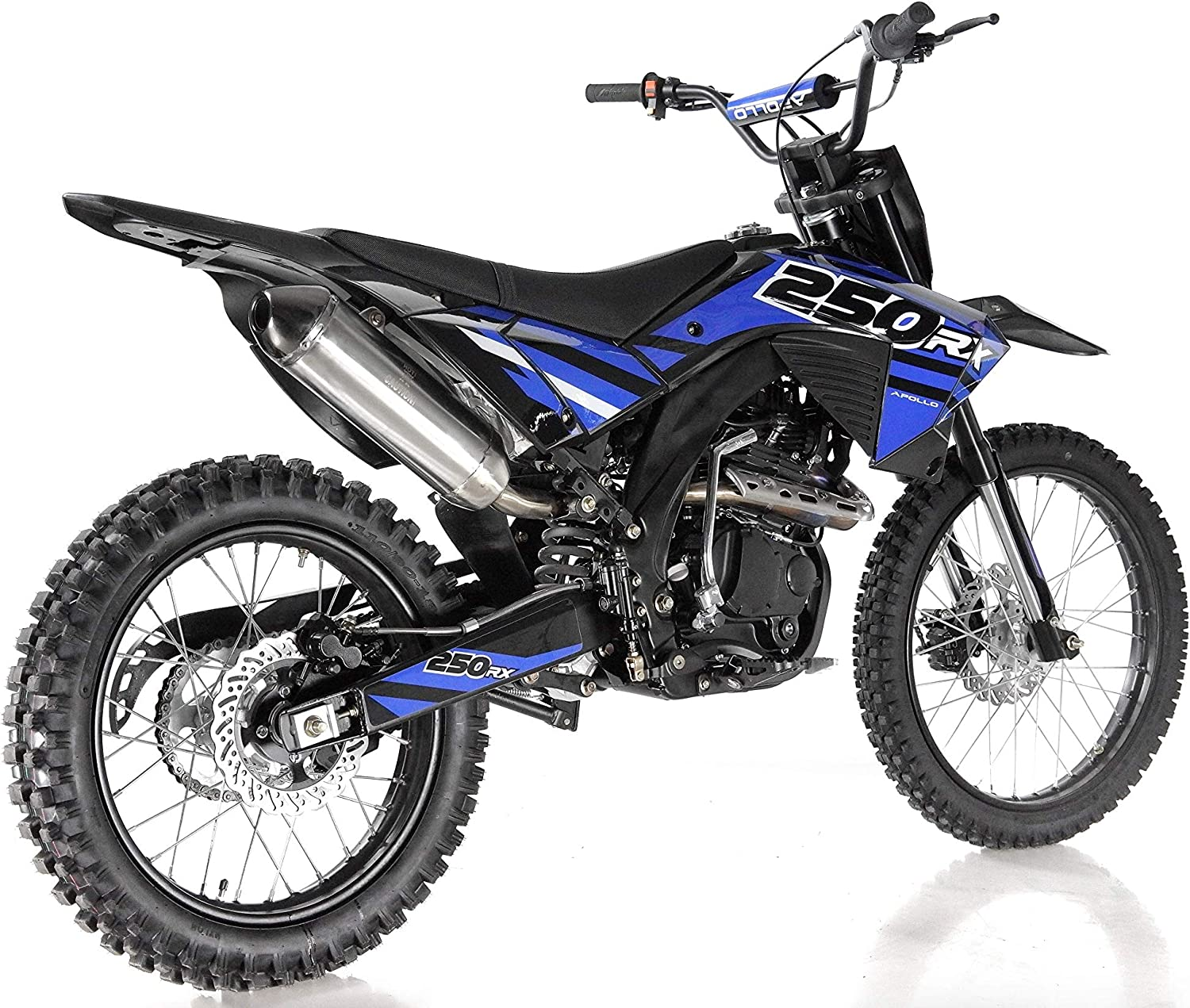 SMART DEALSNOW Brings BRAND NEW APOLLO Dirt Bike 250cc AGB-36 APOLLO with Standard Manual Clutch MIDNIGHT BLACK Color