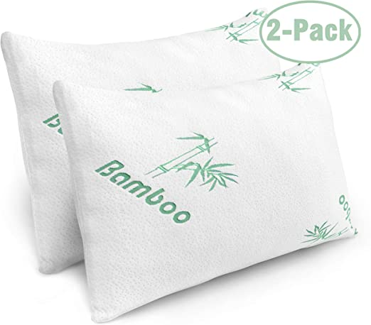 Amazon Com Pillows For Sleeping 2 Pack Cooling Shredded Memory