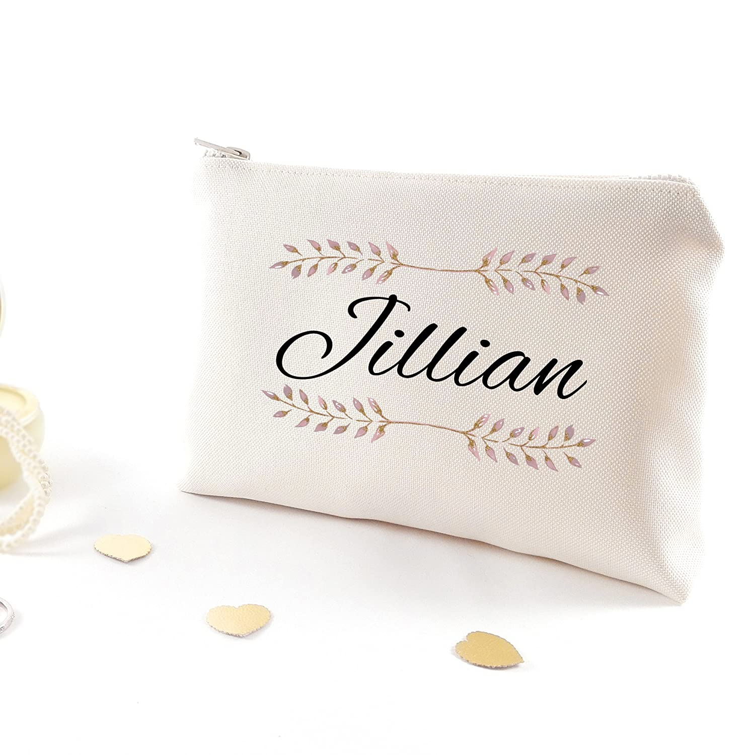 Personalized bridesmaid make up bag - Custom bachelorette party gift