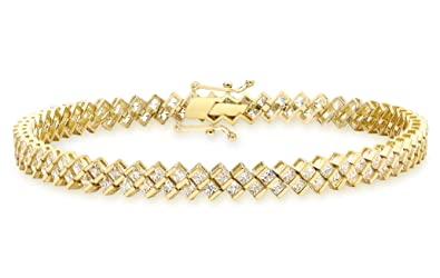 Carissima Gold 9ct Yellow Gold Women's Textured Woven Bracelet of 19cm/7.5 t52W76ygn