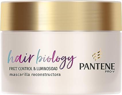 Oferta amazon: Pantene Pro-V Hair Biology Frizz Control & Luminosidad Mascarilla 160 ml, Para Pelo Encrespado O Seco Y Pelo Teñido