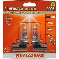 Sylvania 9006SU.BP2 Silverstar Ultra Foco Frontal Alto Desempeño de Halógeno de Halógeno, Paquete de 2