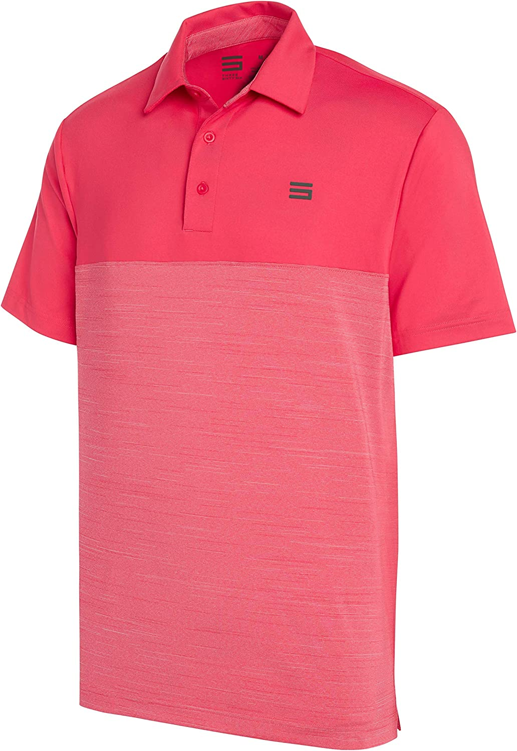 Perfect Collection Button Neck Short Sleeve Polo Top Shirt Pale Pink