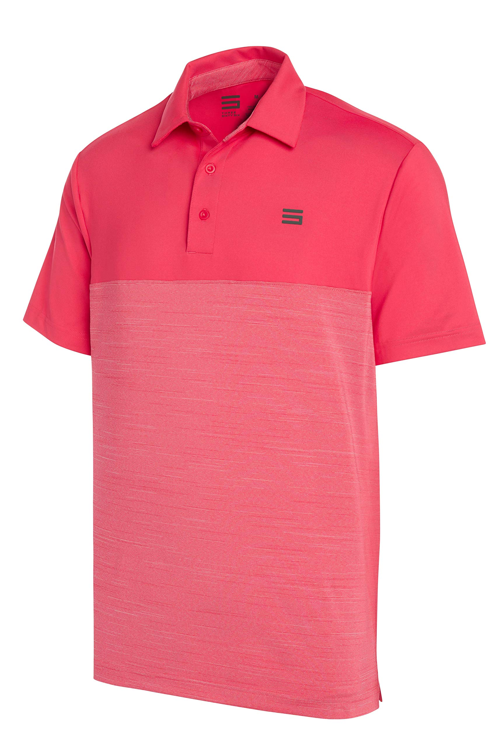 Three Sixty Six Dri-Fit Golf Shirts for Men - Moisture Wicking Short-Sleeve Polo Shirt Fire Red by Three Sixty Six