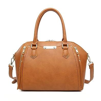 2deaf1de267d Aitbags Purses and Handbags for Women Tote with Shoulder Strap Big  Crossbody Bag Brown