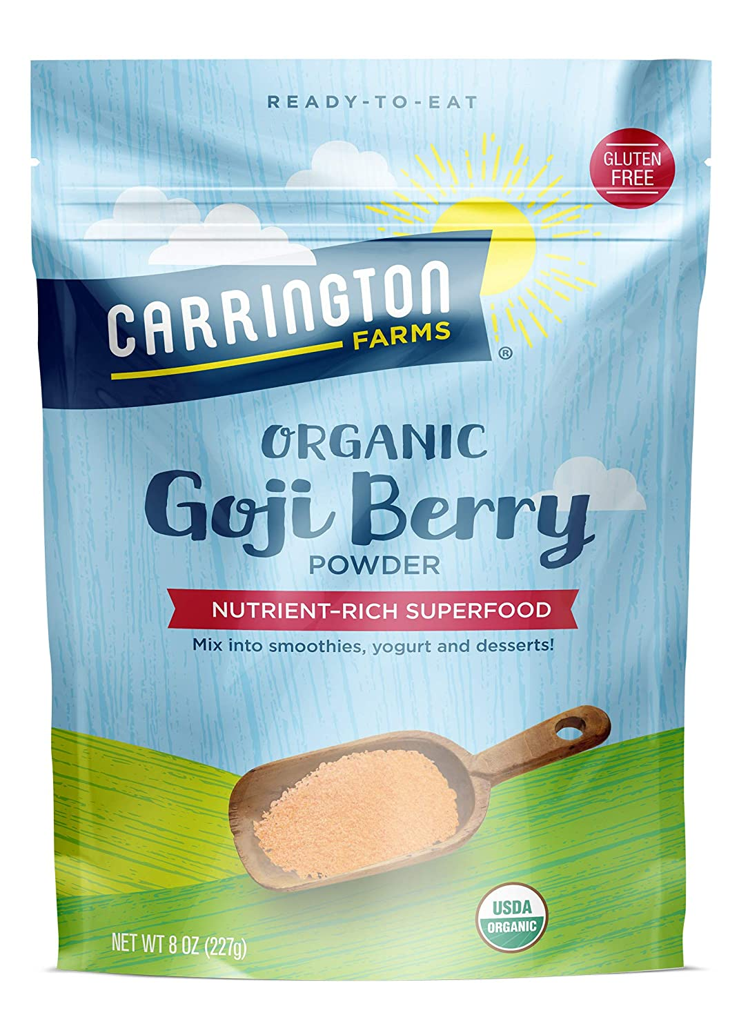 Carrington Farms Organic Goji Berry Powder 8 Ounce Amazon Com