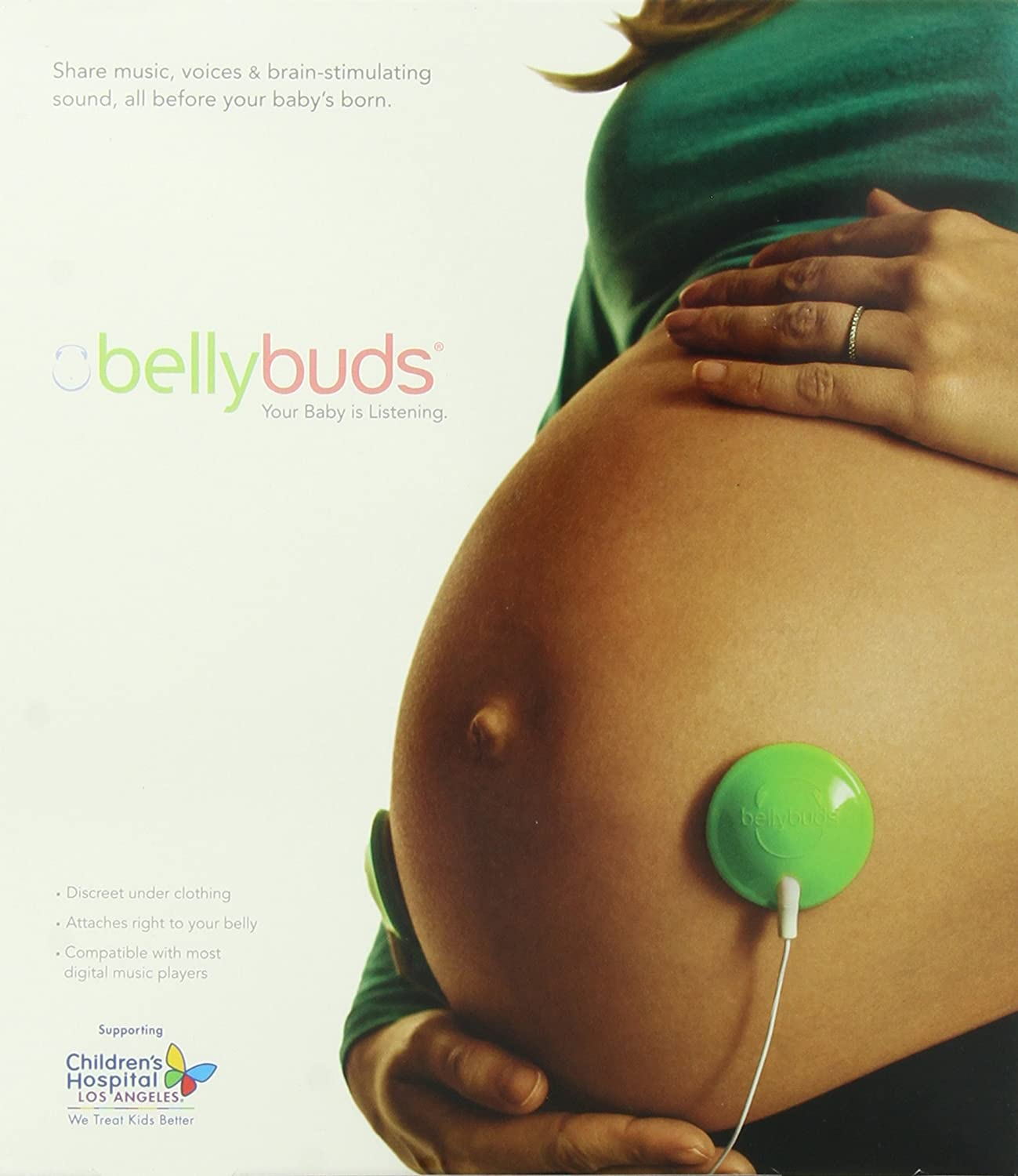 Bellybuds Baby-Bump Sound System with 6 Pairs of Adhesives, Deluxe V4-BBO-6