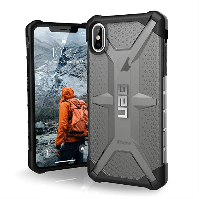 new concept c3c74 57d97 URBAN ARMOR GEAR UAG iPhone Xs Max [6.5-inch Screen] Plasma Feather-Light  Rugged [Ash] Military Drop Tested iPhone Case