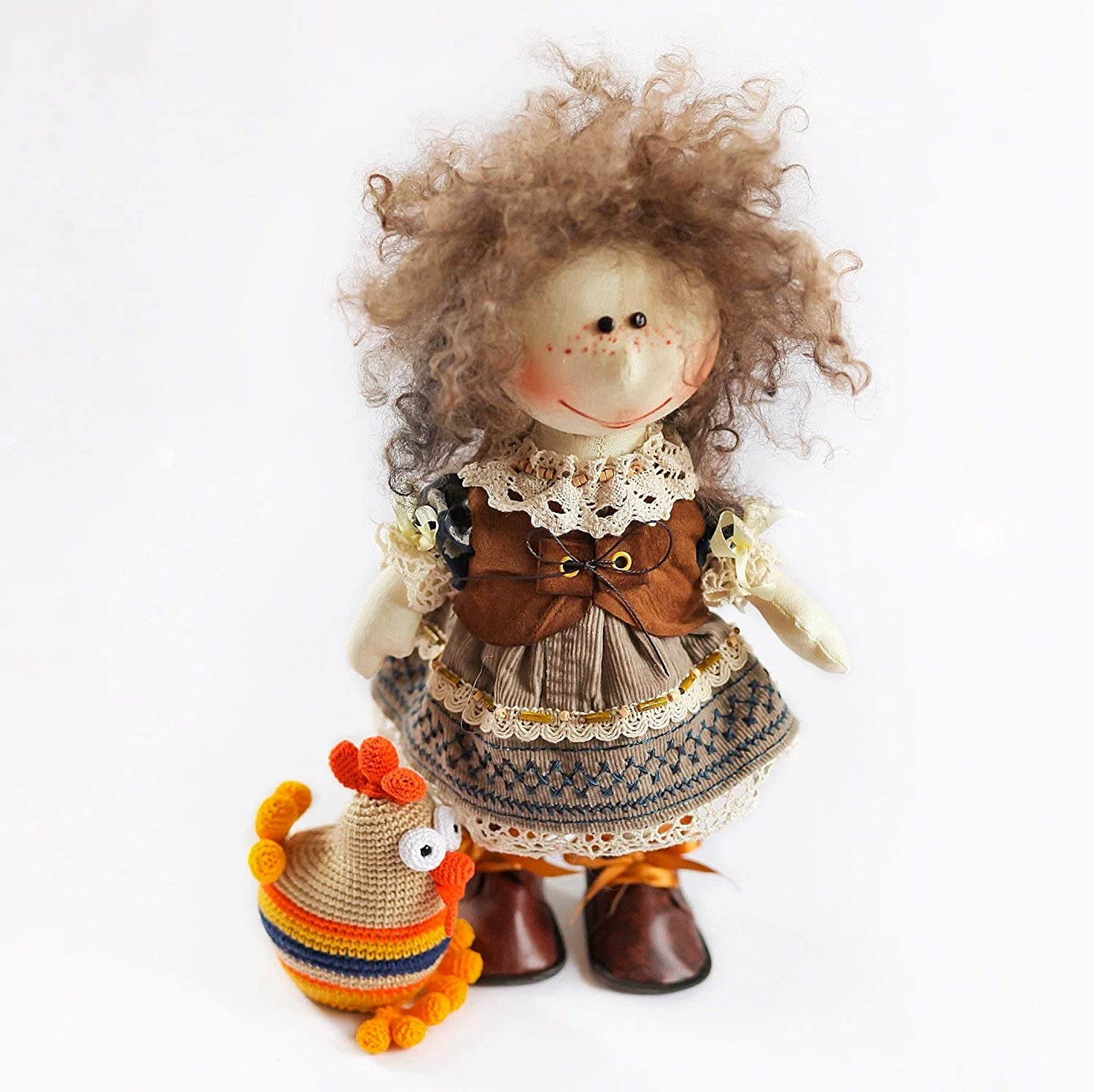 Collectible Dolls Handmade Soft Toy Home Decor Fantasy Art Doll 14 Inch