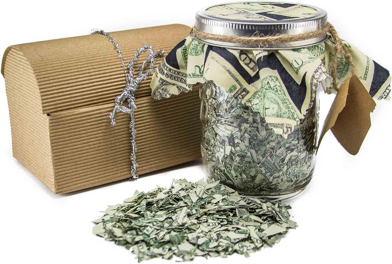 Creative Gift Card Holder \u2026 Pint Mason Jar Stuffed With Shredded US Currency