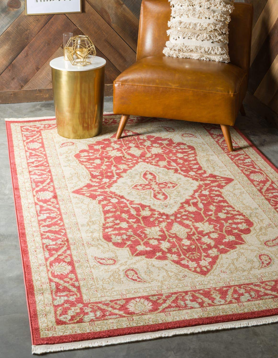 Unique Loom Edinburgh Collection Oriental Traditional French Country Red Area Rug 10 6 x 16 5
