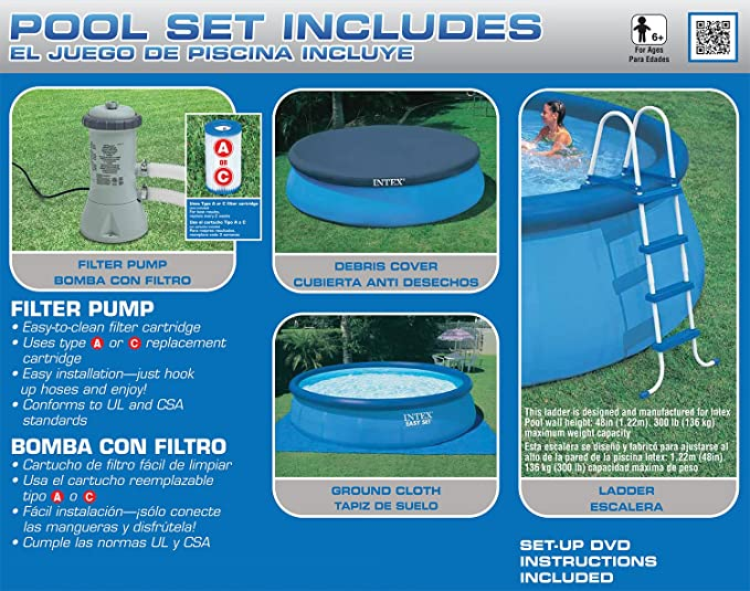Amazon Intex 15ft X 48in Easy Set Pool Set With Filter Pump