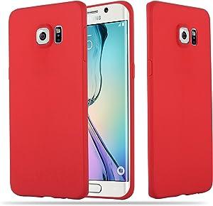 Cadorabo Funda para Samsung Galaxy S6 Edge Plus en Candy Rojo - Cubierta Proteccíon de Silicona TPU Delgada e Flexible con Antichoque - Gel Case Cover Carcasa Ligera