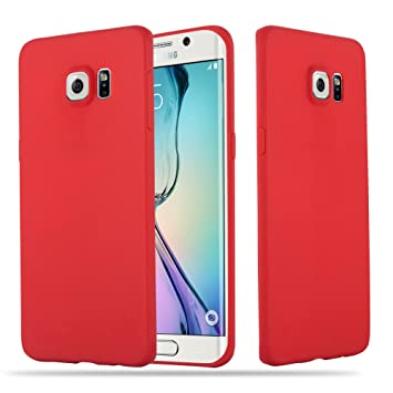 coque samsung s6 silicone rouge