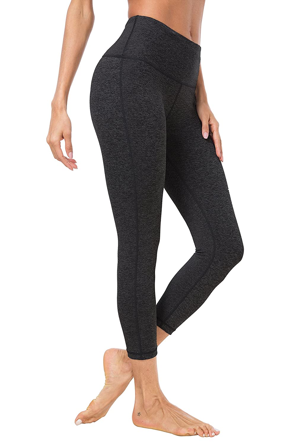 "Queenie Ke Women 22"" Yoga Capris Power Flex Height Waist Running Pants Workout Tights Legging QK60128PANT"