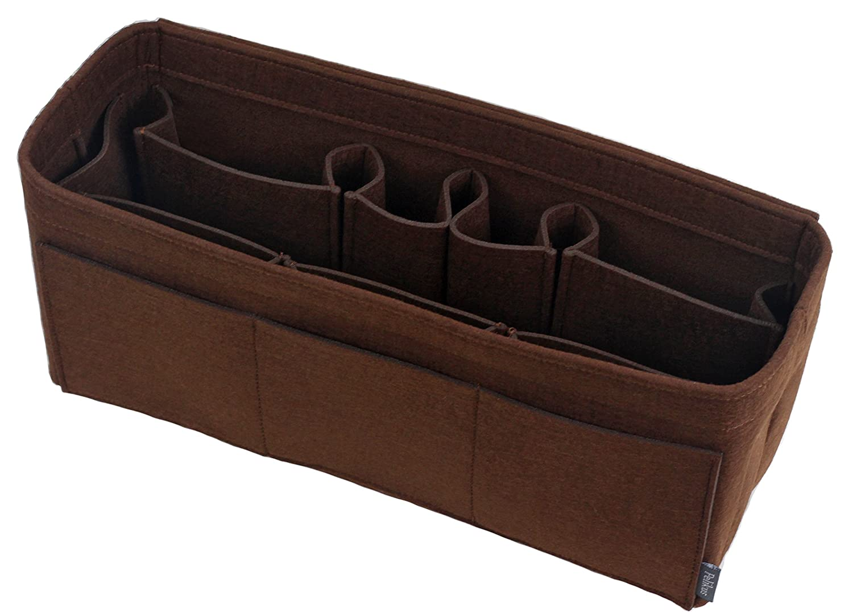 Chocolate  Xls Pelikus Felt Purse & Tote Organizer Insert MultiPocket Handbag Shaper