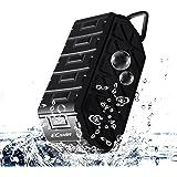 Ecandy Altavoz Portátil Bluetooth IPX6 impermeable 3W * 2 Manos libres estéreo Anti-polvo, anti-caída al aire libre pensamiento altavoz inalámbrico, construido en 1000 mAh de la batería recargable