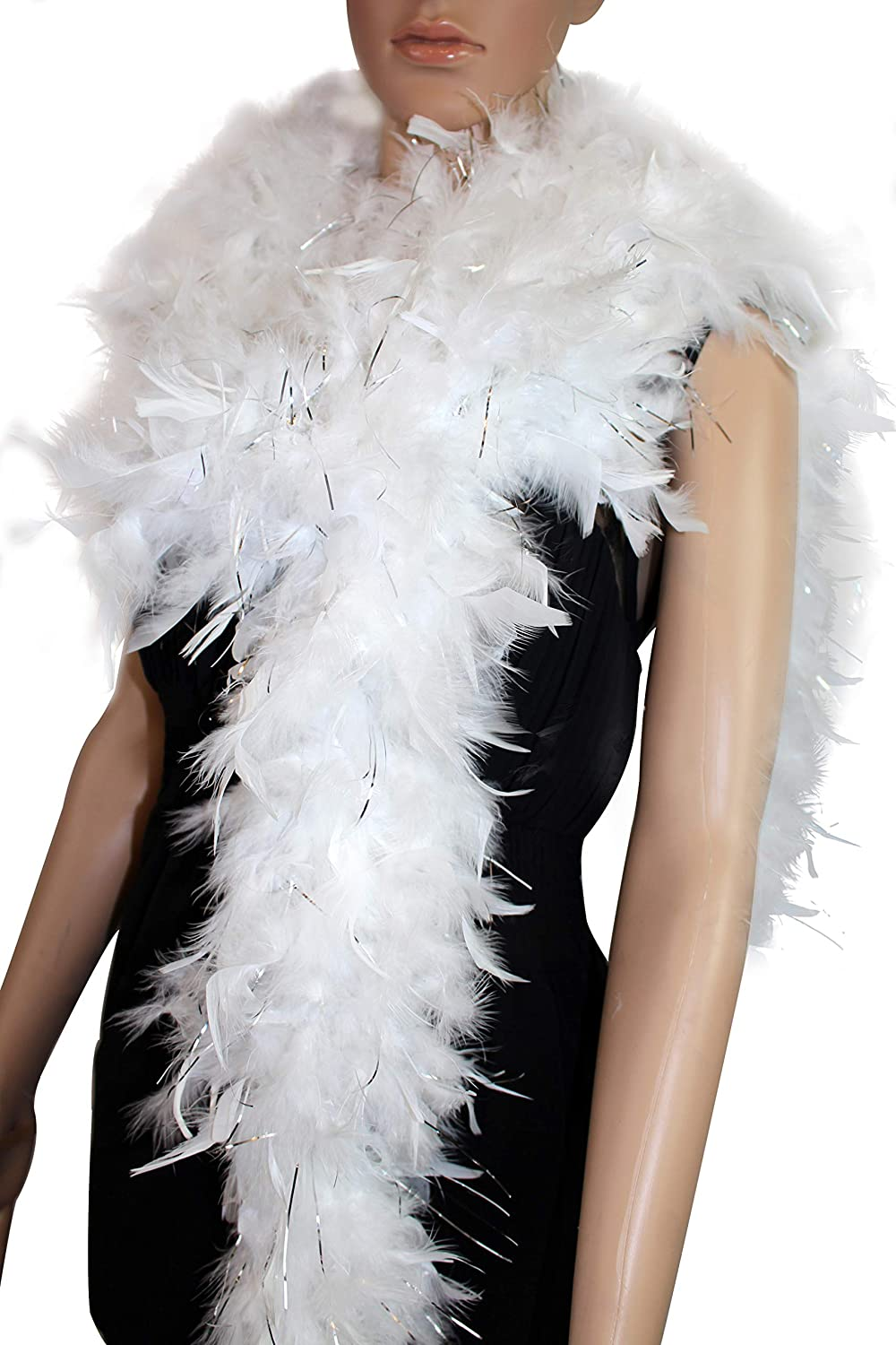Wedding Great for Party 100 Gram 2 Yard Long Chandelle Feather Boa Over 10 Colors red Color Costume
