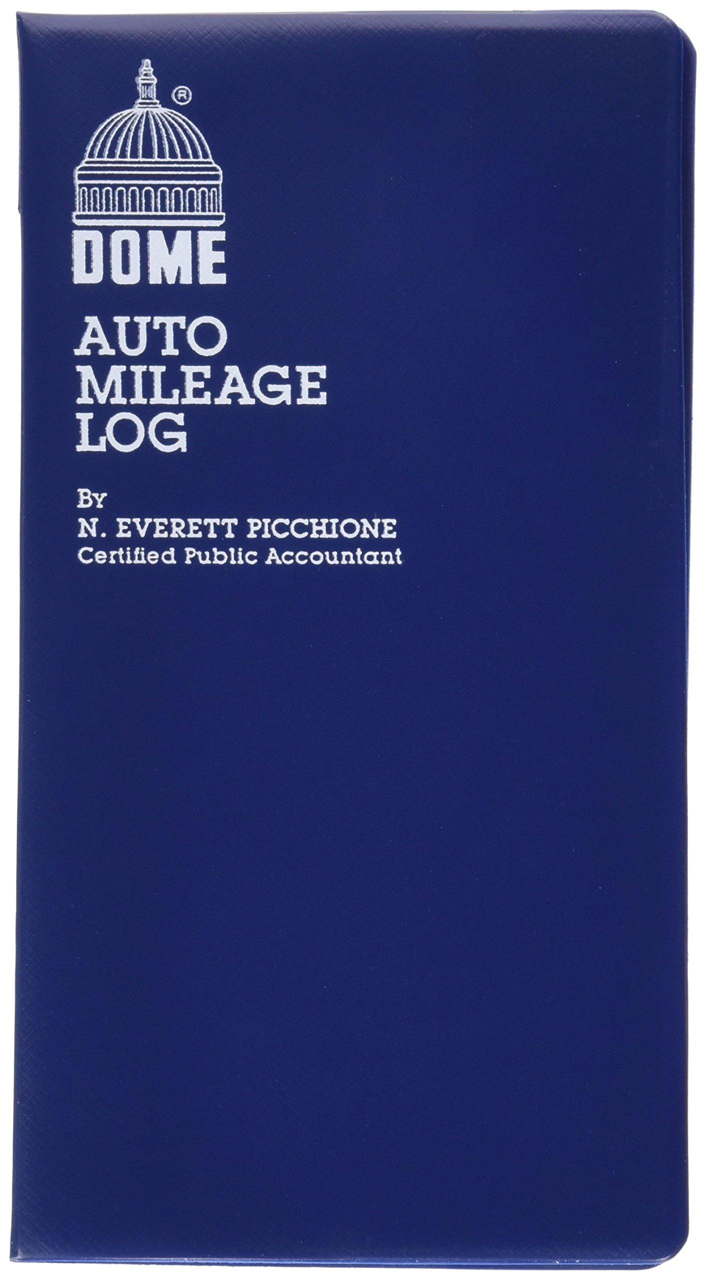 Dome(R) Auto Mileage Log, Vinyl Cover, 3 1/4in. x 6 1/4in., Blue