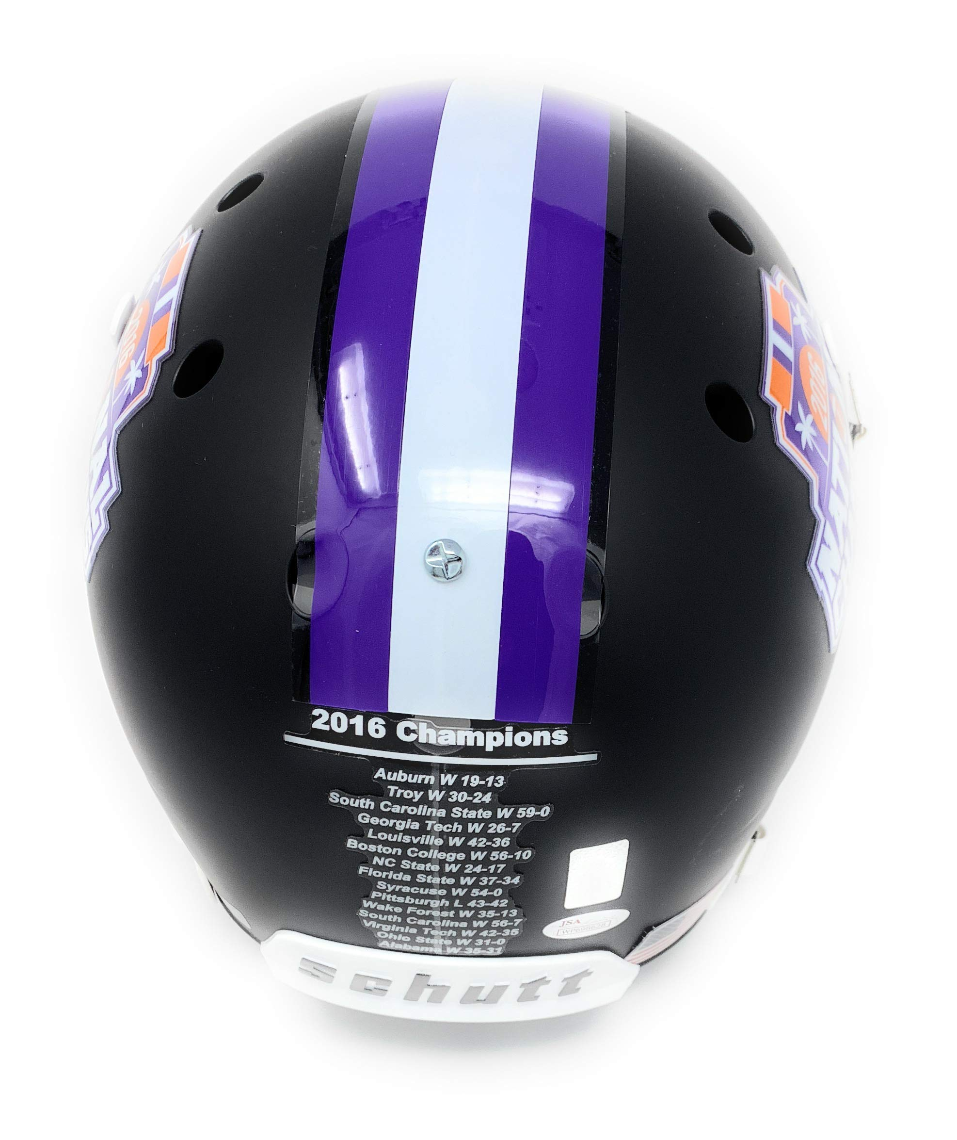 Deshaun Watson Clemson Tigers Signed Autograph Full Size Helmet Black Matte BCS Champs Edition BCS Logo Watson GTSM Holo JSA Certified