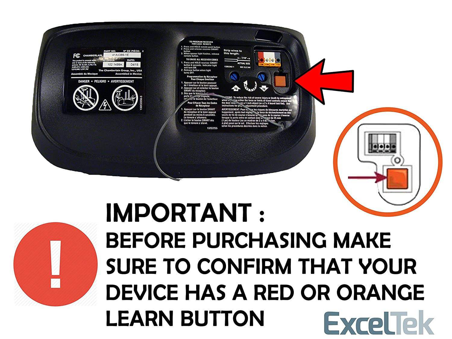 Compatible garage remote with liftmaster chamberlain craftsman 970lm compatible garage remote with liftmaster chamberlain craftsman 970lm 971lm 972lm 973lm 91lm 92lm 94lm 96lm 13953680 13953681 by exceltek amazon fandeluxe Image collections