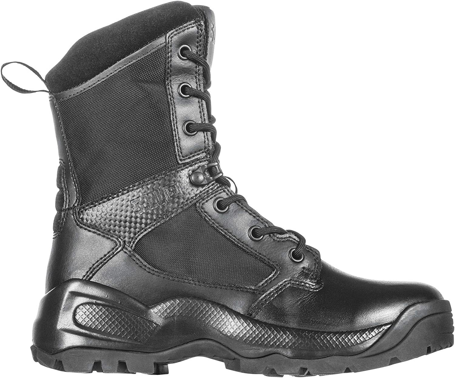 "5.11 Women's ATAC 2.0 8"" Tactical Side Zip Military Combat Boot, Style 12403, Black"