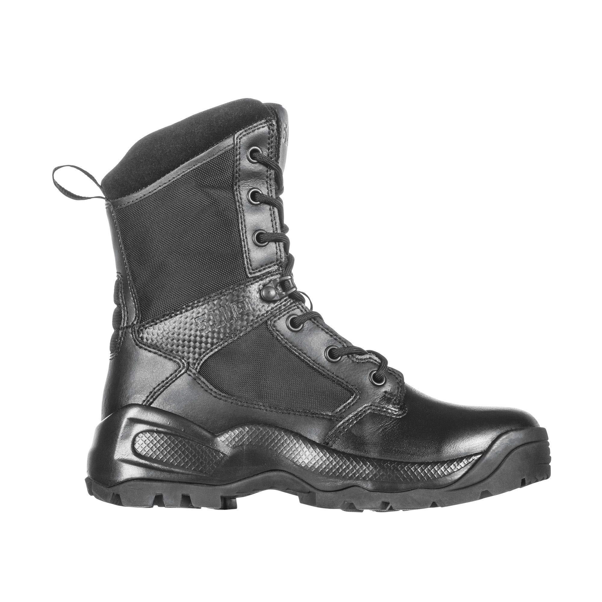 5.11 Women's ATAC 2.0 8'' Tactical Side Zip Military Combat Boot, Style 12403, Black, 6 D(M) US