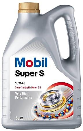 Aceite Lubricante coche Mobil Super S 10W40 5 litros: Amazon.es: Coche y moto