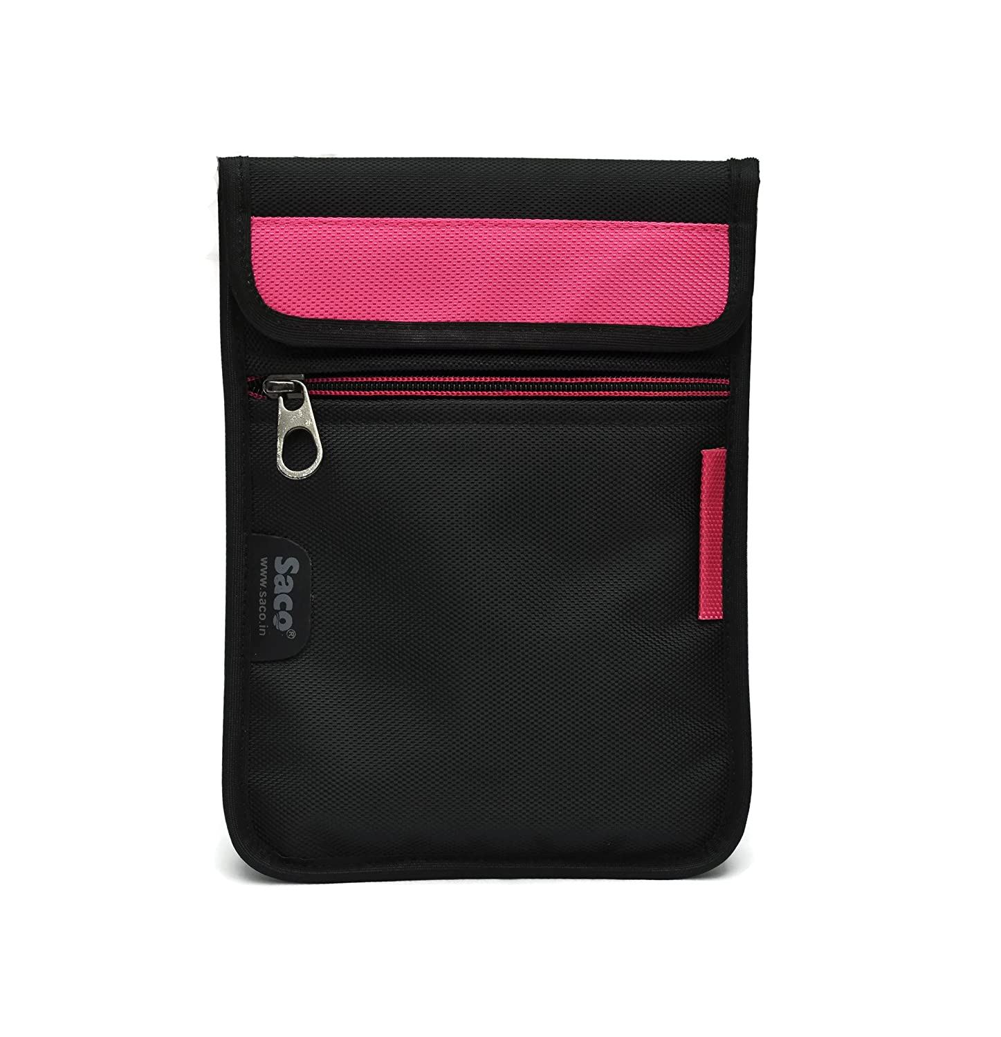 Saco Durable Pouch Soft Sleeve Carrying Bag Case with Shoulder Strap Zipper for Samsung Galaxy Tab A SM T355YZAA Tablet 8 inch   Pink