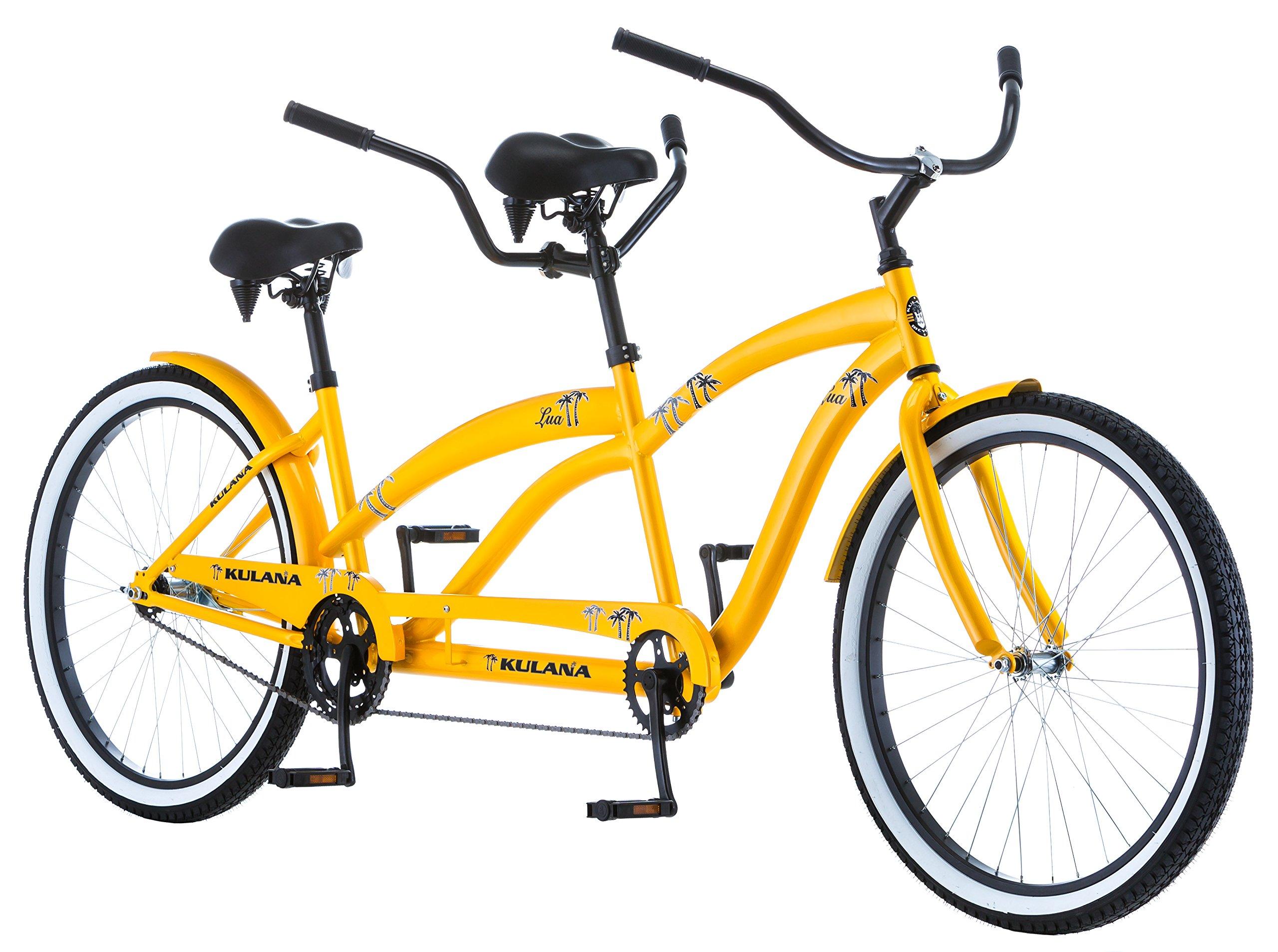 Kulana Lua Single Speed Tandem 26'' wheel, Yellow, 17''/Medium frame size by Kulana