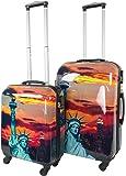 normani 2 Teiliges ABS Hartschalen Kofferset mit Motiv