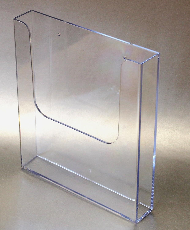 Dispenser espositore in plastica trasparente per brochure/foglio/comunicazioni formato A4, verticale, montaggio a parete The Products Store 451170