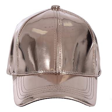 a9b66a3cc9d7e8 Gary Majdell Sport Unisex Metallic Adjustable Strap Baseball Cap - Bronze  -: Amazon.co.uk: Clothing