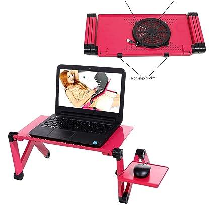 BUSYALL Mesa Soporte Portátil Cama para Ordenador Notebook Laptop Macbook Pro - Plegable Rotación 360 °con ...