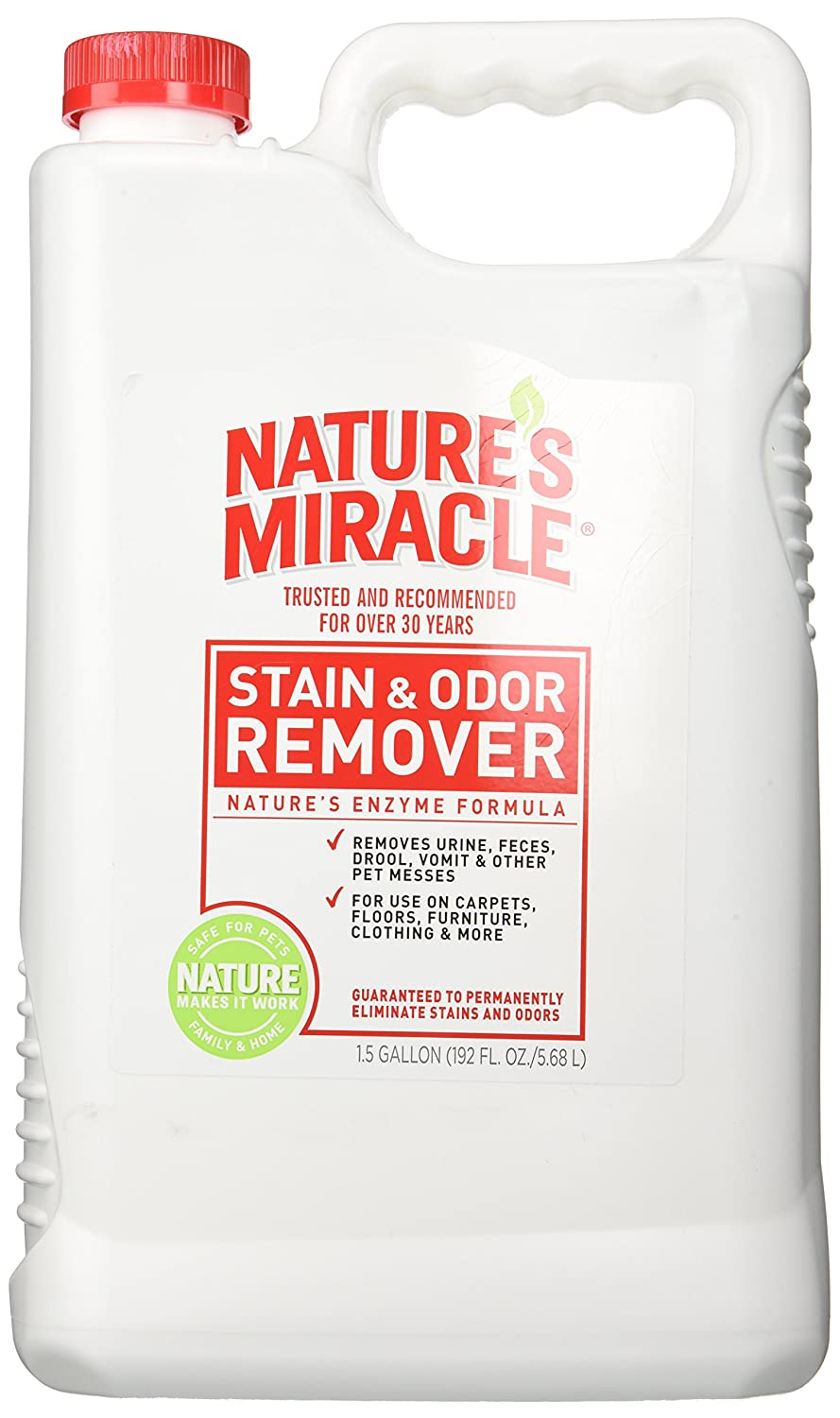 Nature's Miracle Pet Stain and Odor Remover, 1-1/2-Gallon PetEdge Dealer Services 5515