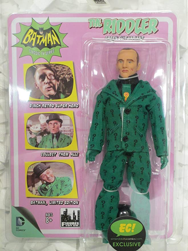 "Riddler Figures Toy Company Batman DC Comics Retro 8/"" Series Action Figure NIB"