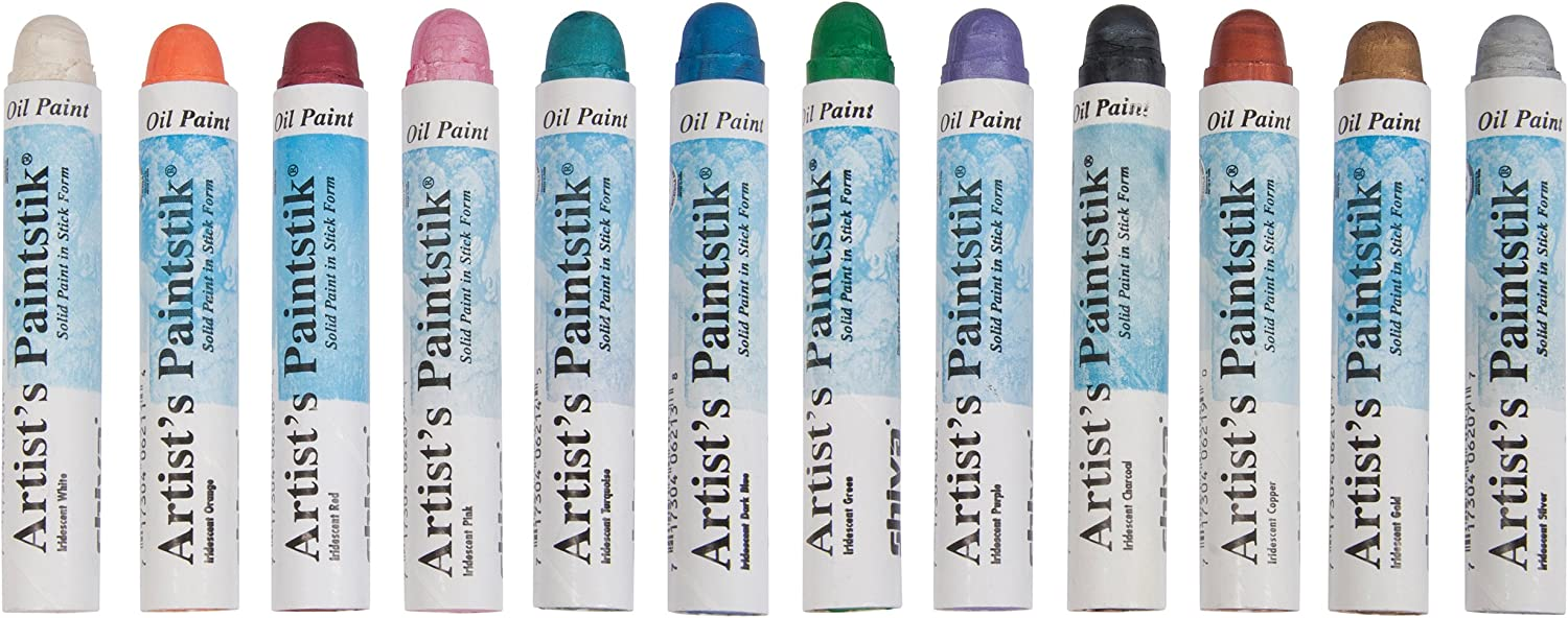 Jack Richeson Shiva Oil Paint Stick, Iridescent Colors, Set of 12
