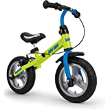 RunRunToys Bicicleta Runrunbike Unisex para niños a Partir de 2 años con Ruedas antipinchazos y Freno Color Azul Herrajes Multimec 5081