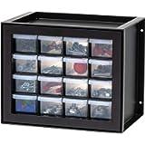 IRIS USA DPC-16 Drawer Parts Cabinet, 16, Black