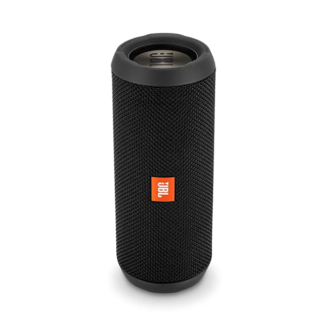 JBL Flip 3 Stealth Waterproof Portable Bluetooth Speaker with Rich Deep Bass  Black , Without Mic Bluetooth Speakers
